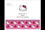 Hello Kitty adore les pommes! Étiquettes d'expédition - gabarit prédéfini. <br/>Utilisez notre logiciel Avery Design & Print Online pour personnaliser facilement la conception.