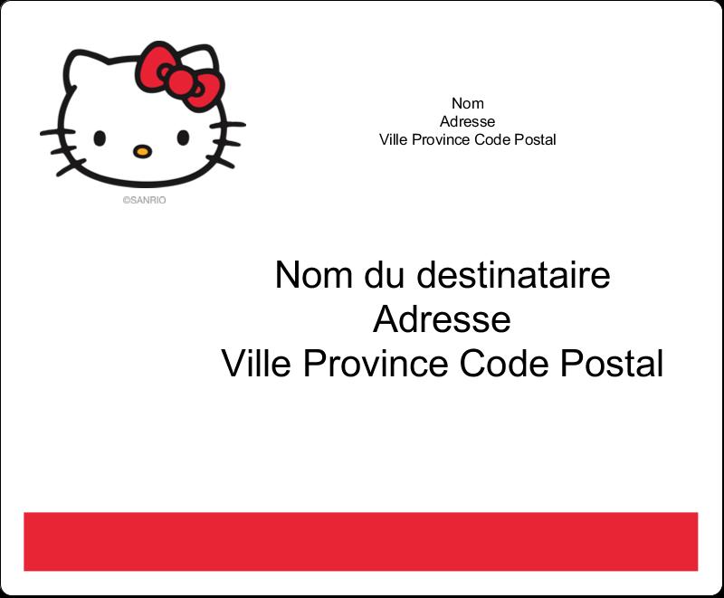 """3⅓"""" x 4"""" Étiquettes d'expédition - Bonjour Ami!"""