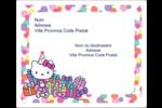 Hello Kitty Anniversaire Étiquettes d'expédition - gabarit prédéfini. <br/>Utilisez notre logiciel Avery Design & Print Online pour personnaliser facilement la conception.