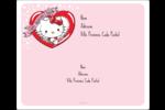 Hello Kitty Saint-Valentin Étiquettes d'expédition - gabarit prédéfini. <br/>Utilisez notre logiciel Avery Design & Print Online pour personnaliser facilement la conception.