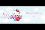 Hello Kitty Saint-Valentin - Mon cœur monte pour vous Affichette - gabarit prédéfini. <br/>Utilisez notre logiciel Avery Design & Print Online pour personnaliser facilement la conception.