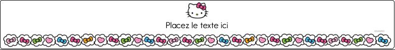 """9¾"""" x 1¼"""" Étiquettes enveloppantes - Hello Kitty Cœurs et Nœuds"""