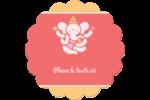 Ganesh Divali  Étiquettes rondes - gabarit prédéfini. <br/>Utilisez notre logiciel Avery Design & Print Online pour personnaliser facilement la conception.