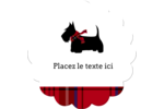 Terrier écossais Étiquettes rondes - gabarit prédéfini. <br/>Utilisez notre logiciel Avery Design & Print Online pour personnaliser facilement la conception.