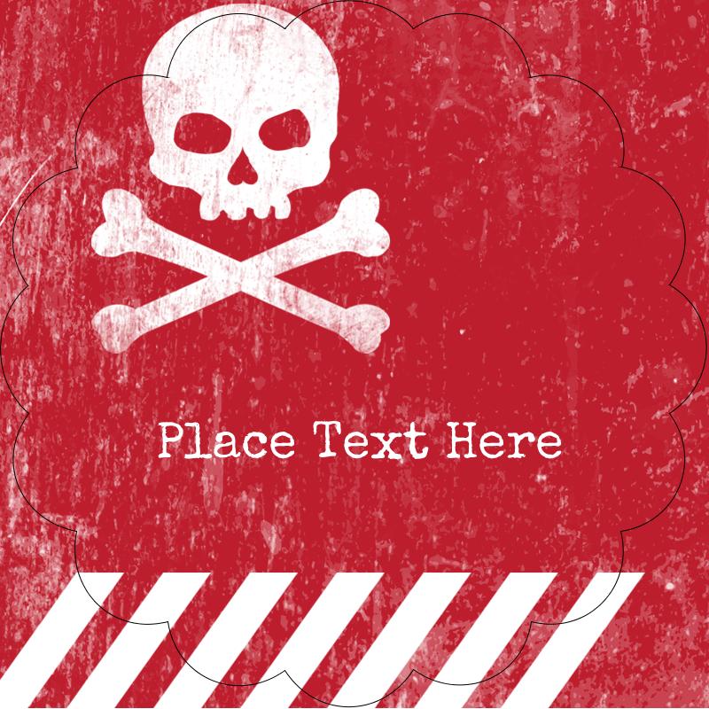 "2½"" Scallop Labels - Halloween Zombie Apocalypse"