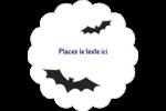 Chauves-souris d'Halloween Étiquettes festonnées - gabarit prédéfini. <br/>Utilisez notre logiciel Avery Design & Print Online pour personnaliser facilement la conception.