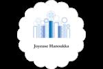 Chandelier bleu de Hanoukka  Étiquettes festonnées - gabarit prédéfini. <br/>Utilisez notre logiciel Avery Design & Print Online pour personnaliser facilement la conception.