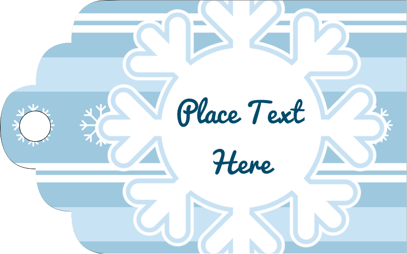 "2"" x 1⅛"" Printable Tags - Blue Snowflake"