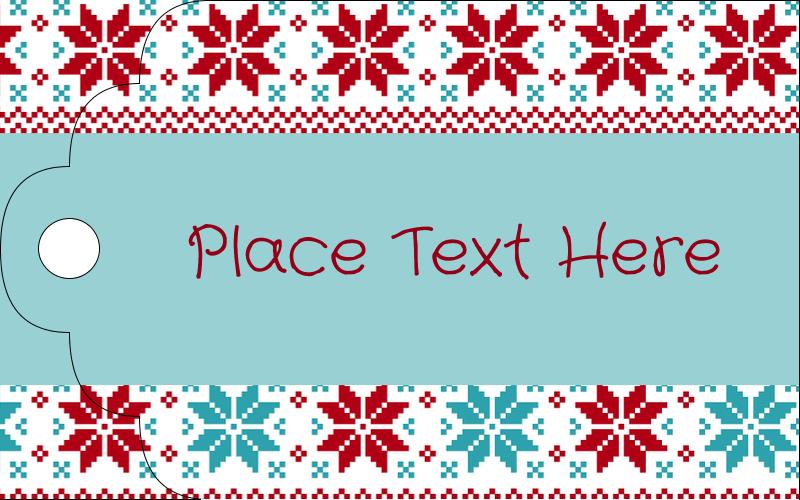 "2"" x 1⅛"" Printable Tags - Poinsettia Sweater"