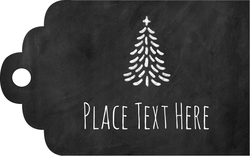 "2"" x 1⅛"" Printable Tags - Chalkboard Tree"