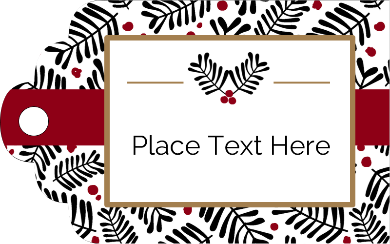 "2"" x 1⅛"" Printable Tags - Christmas Floral"