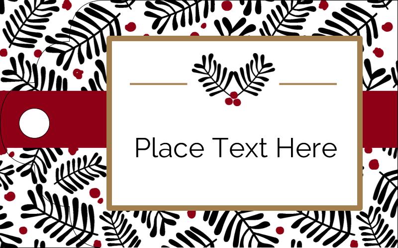 """2"""" x 1⅛"""" Printable Tags - Christmas Floral"""