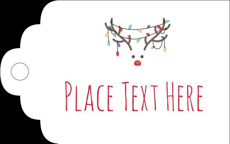 """2"""" x 1⅛"""" Printable Tags - Reindeer Antler Lights"""