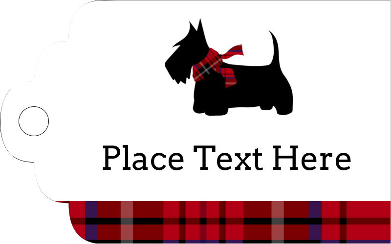 "2"" x 1⅛"" Printable Tags - Scottie Dog"