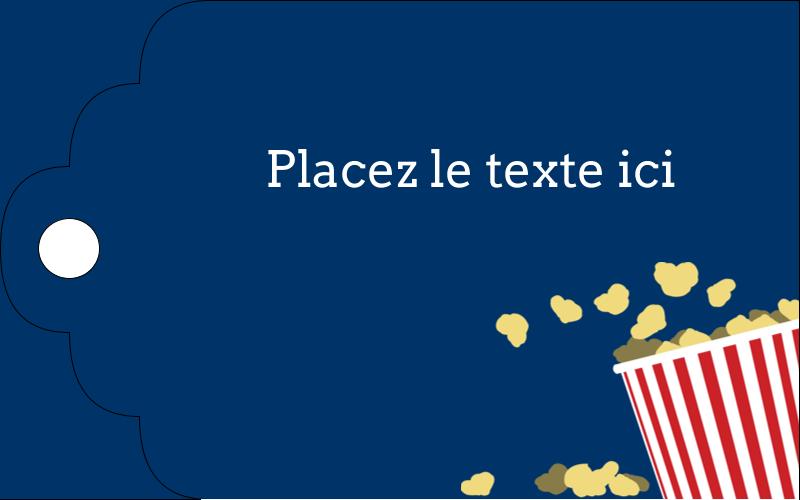 """2"""" x 1⅛"""" Étiquettes imprimables - Popcorn et film"""
