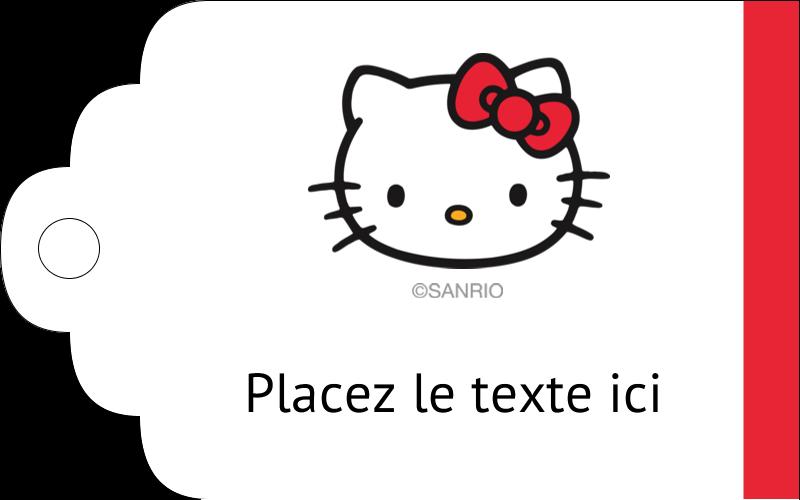 """2"""" x 1⅛"""" Étiquettes imprimables - Bonjour Ami!"""