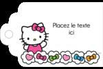 Hello Kitty Cœurs et Nœuds Étiquettes imprimables - gabarit prédéfini. <br/>Utilisez notre logiciel Avery Design & Print Online pour personnaliser facilement la conception.