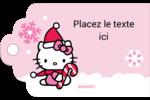 Canne en bonbon de Noël Hello Kitty Étiquettes imprimables - gabarit prédéfini. <br/>Utilisez notre logiciel Avery Design & Print Online pour personnaliser facilement la conception.