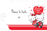Hello Kitty et Cher Daniel Valentin Étiquettes imprimables - gabarit prédéfini. <br/>Utilisez notre logiciel Avery Design & Print Online pour personnaliser facilement la conception.