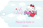 Hello Kitty Saint-Valentin - Mon cœur monte pour vous Étiquettes imprimables - gabarit prédéfini. <br/>Utilisez notre logiciel Avery Design & Print Online pour personnaliser facilement la conception.