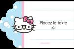 Hello Kitty avec des lunettes Étiquettes imprimables - gabarit prédéfini. <br/>Utilisez notre logiciel Avery Design & Print Online pour personnaliser facilement la conception.