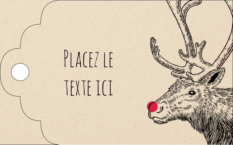Nez rouge  Étiquettes imprimables - gabarit prédéfini. <br/>Utilisez notre logiciel Avery Design & Print Online pour personnaliser facilement la conception.