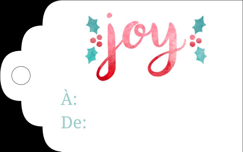 « Joy » écrit à la main Étiquettes imprimables - gabarit prédéfini. <br/>Utilisez notre logiciel Avery Design & Print Online pour personnaliser facilement la conception.