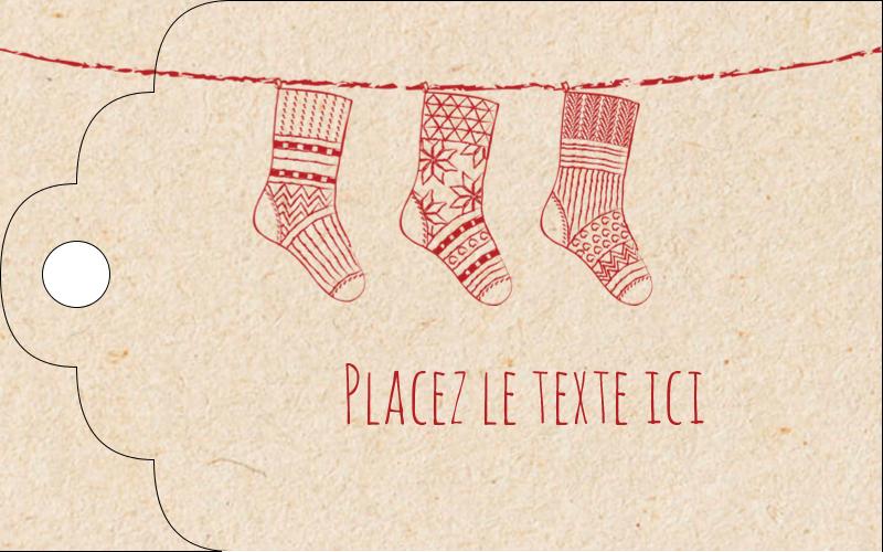 """2"""" x 1⅛"""" Étiquettes imprimables - Bas de Noël suspendus"""