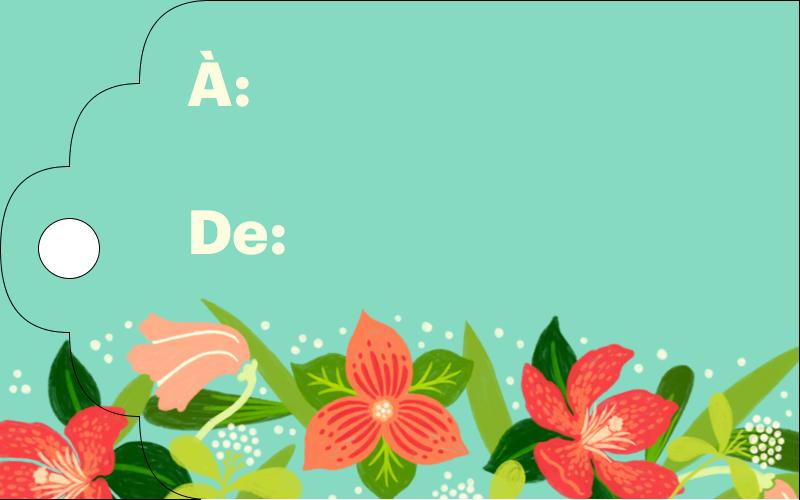 Pleine floraison  Étiquettes imprimables - gabarit prédéfini. <br/>Utilisez notre logiciel Avery Design & Print Online pour personnaliser facilement la conception.