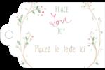 Les gabarits Paix, amour et joie pour votre prochain projet créatif des Fêtes Étiquettes imprimables - gabarit prédéfini. <br/>Utilisez notre logiciel Avery Design & Print Online pour personnaliser facilement la conception.