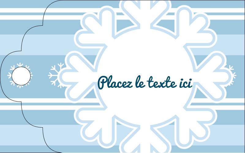 """2"""" x 1⅛"""" Étiquettes imprimables - Les gabarits Flocon de neige bleu pour votre prochain projet des Fêtes"""
