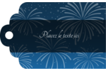 Feux d'artifice bleus du Nouvel An Étiquettes imprimables - gabarit prédéfini. <br/>Utilisez notre logiciel Avery Design & Print Online pour personnaliser facilement la conception.