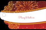 Feux d'artifice rouges du Nouvel An Étiquettes imprimables - gabarit prédéfini. <br/>Utilisez notre logiciel Avery Design & Print Online pour personnaliser facilement la conception.