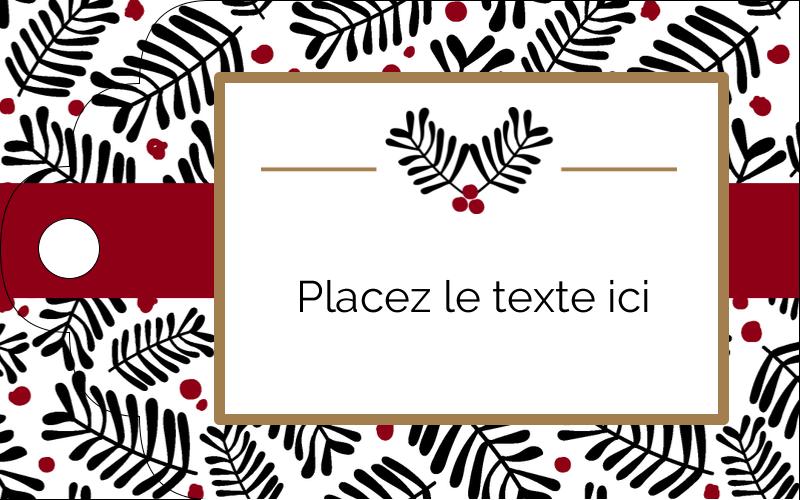 """2"""" x 1⅛"""" Étiquettes imprimables - Fleurs de Noël"""