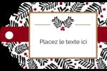 Fleurs de Noël Étiquettes imprimables - gabarit prédéfini. <br/>Utilisez notre logiciel Avery Design & Print Online pour personnaliser facilement la conception.