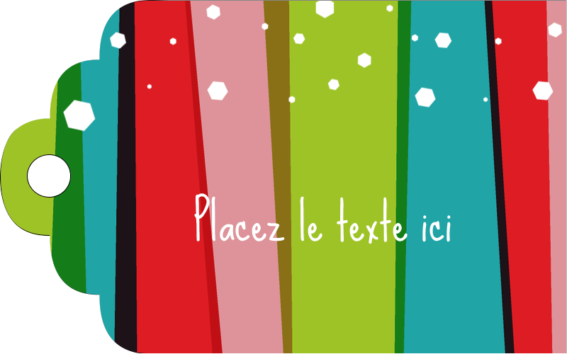 """2"""" x 1⅛"""" Étiquettes imprimables - Rayures de Noël rétro"""