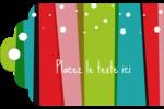 Rayures de Noël rétro Étiquettes imprimables - gabarit prédéfini. <br/>Utilisez notre logiciel Avery Design & Print Online pour personnaliser facilement la conception.