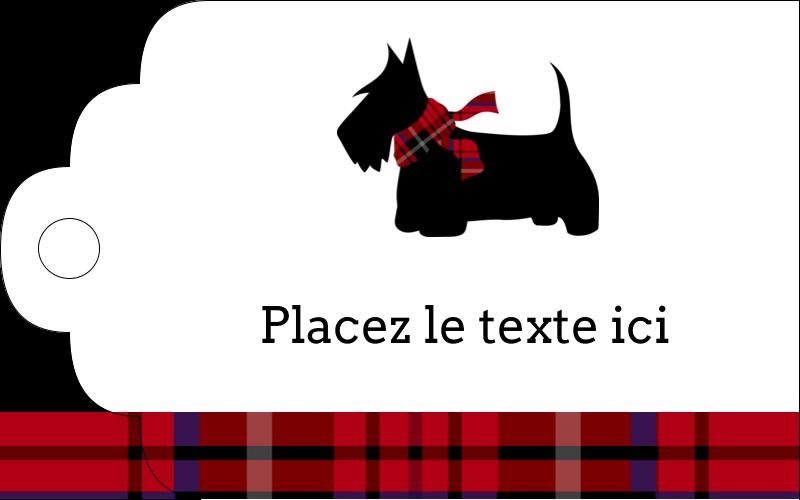 """2"""" x 1⅛"""" Étiquettes imprimables - Terrier écossais"""