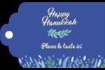 Hanoukka florale Étiquettes imprimables - gabarit prédéfini. <br/>Utilisez notre logiciel Avery Design & Print Online pour personnaliser facilement la conception.