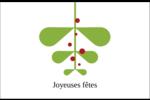 Branche de gui Cartes de souhaits pliées en deux - gabarit prédéfini. <br/>Utilisez notre logiciel Avery Design & Print Online pour personnaliser facilement la conception.