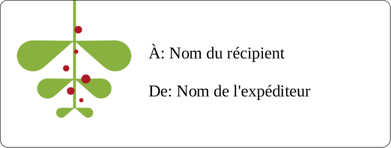 """1"""" x 2⅝"""" Étiquettes d'adresse - Branche de gui"""
