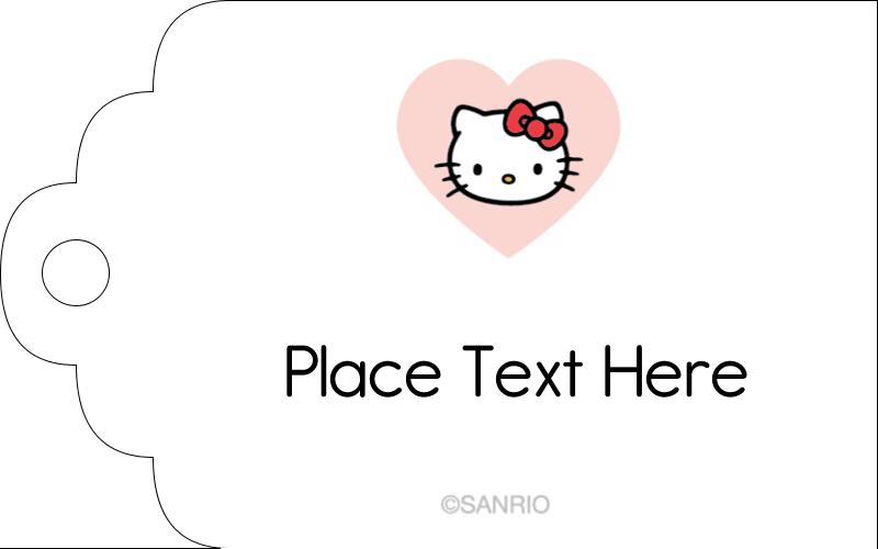 "2"" x 1⅛"" Printable Tags - We love Hello Kitty"