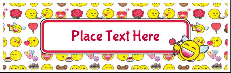 """3½"""" x 11"""" Tent Card - Valentine Emoji"""