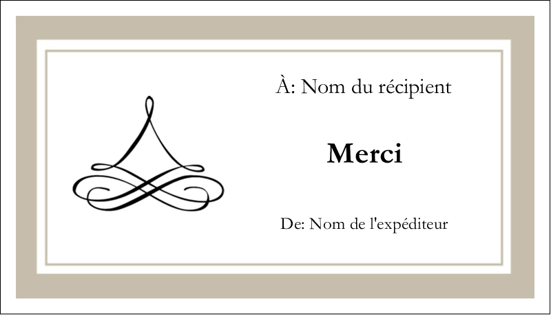 "2"" x 3½"" Cartes d'affaires - Mariage simple"
