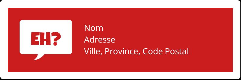 """1⅓"""" x 4"""" Étiquettes d'adresse - Parlez-vous canadien eh? (Rouge)"""