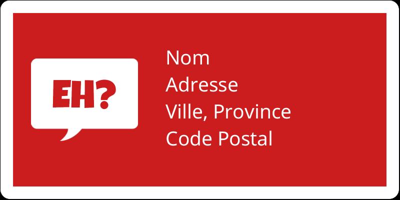 """2"""" x 4"""" Étiquettes d'expédition - Parlez-vous canadien eh? (Rouge)"""