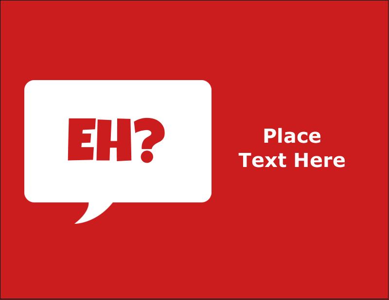 "5½"" x 4¼"" Postcard - Speak Canadian, Eh? - Red"
