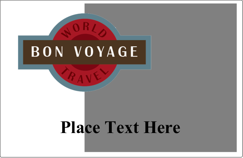 """5½"""" x 8½"""" Shipping Label - Vintage Travel"""