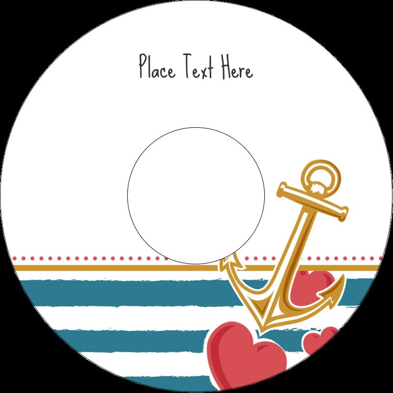 "4.65"" CD-DVD Label - Valentine Anchor"