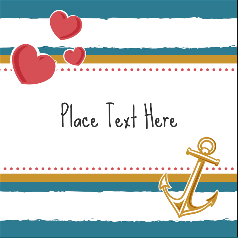"2"" x 2"" Sqaure Label - Valentine Anchor"